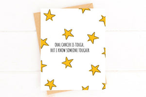 Oral Cancer is Tough Get Well Card