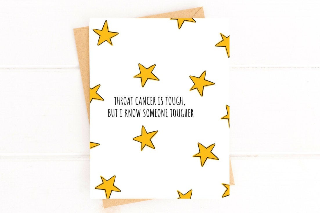 Throat Cancer is Tough Get Well Card