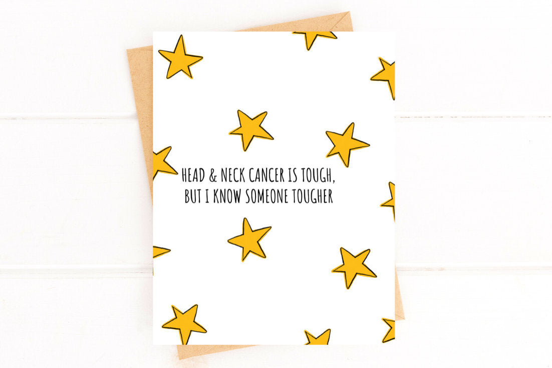 Head and Neck Cancer is Tough Get Well Card