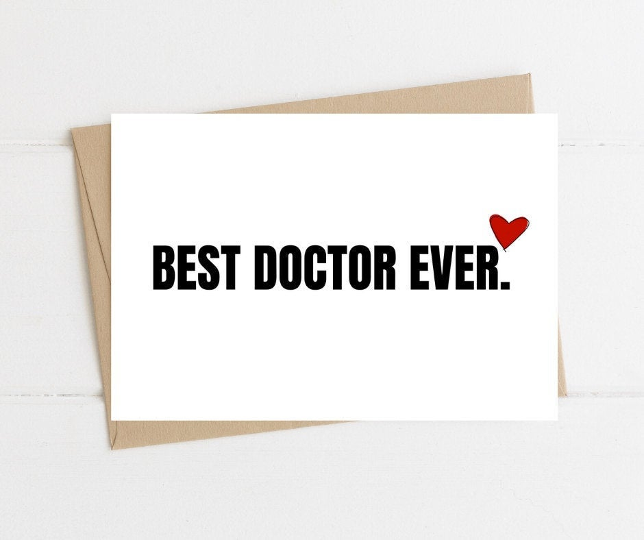 Best Doctor Ever Thank You Card