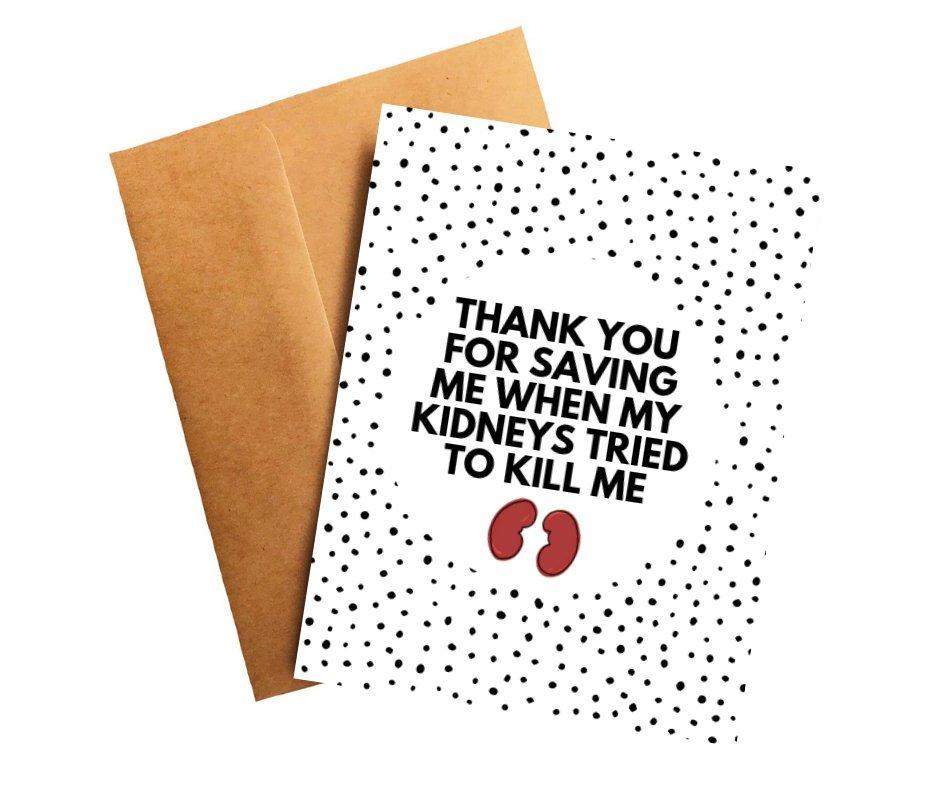 Kidney Cancer Oncologist Doctor Thank You Card Better and Co.