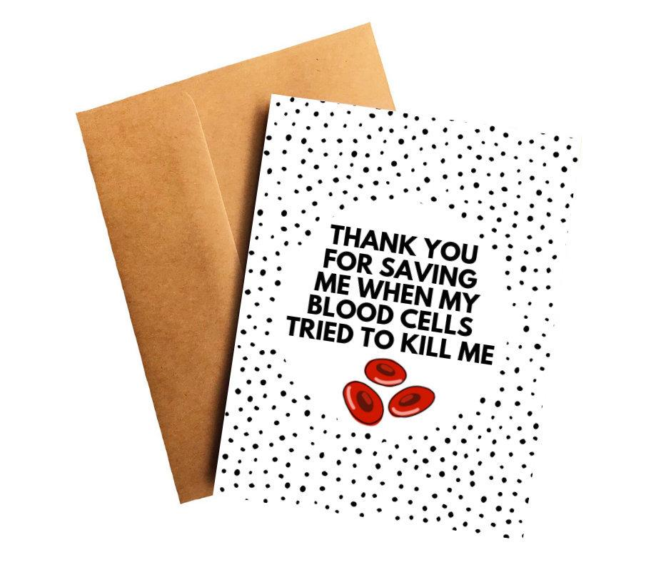 Leukemia Oncologist Doctor Thank You Card Better and Co.