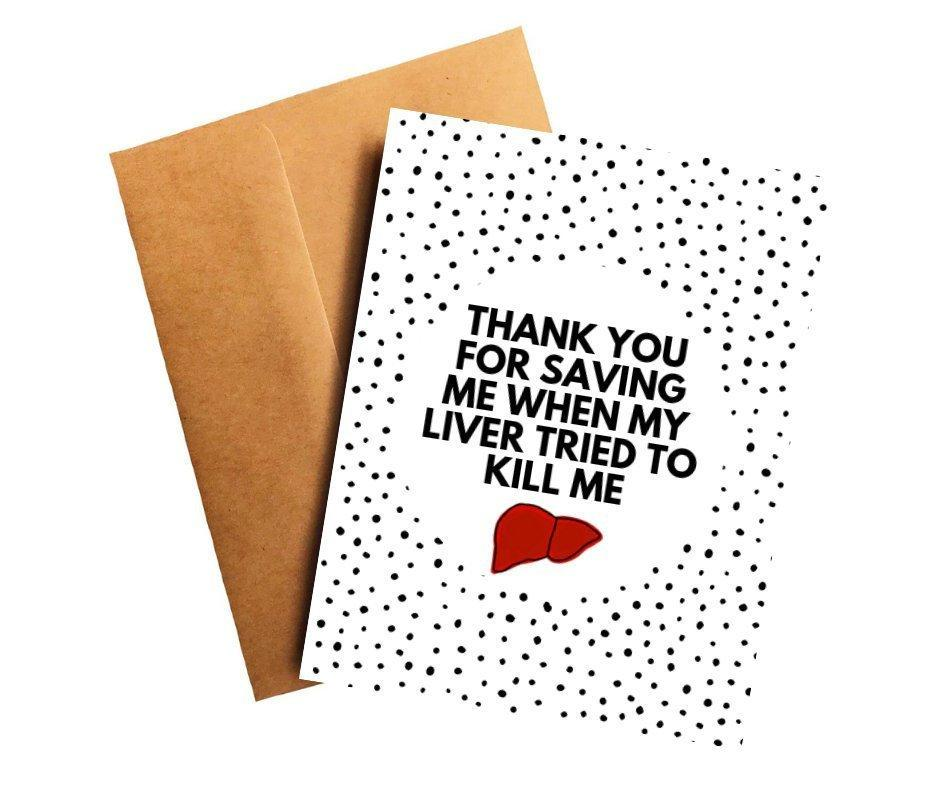 Liver Cancer Oncologist Doctor Thank You Card Better and Co.