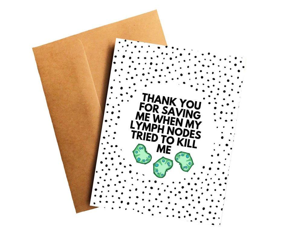 Lymphoma Oncologist Doctor Thank You Card Better and Co.
