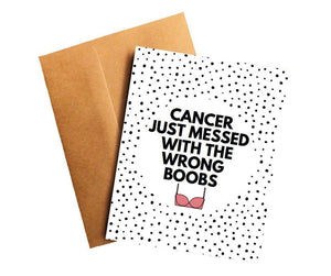 Messed With the Wrong Boobs Funny Breast Cancer Get Well Card Better and Co.