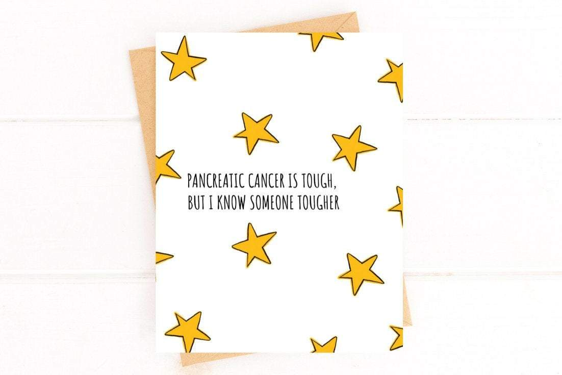 Pancreatic Cancer is Tough Get Well Card Better and Co.
