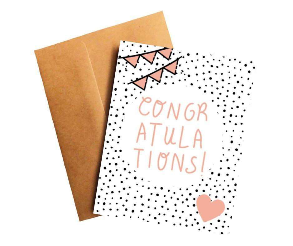Pink Congratulations Card Better and Co.