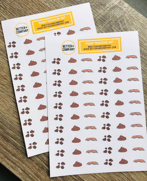 Poop Planner Stickers for Health Tracking Better and Co.