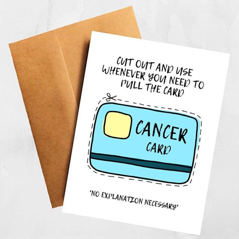 The Cancer Card Funny Get Well Support Card Better and Co.