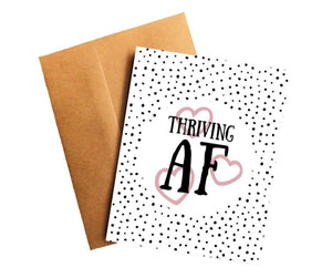 Thriving AF Cancer Survivor Get Well Card Better and Co.