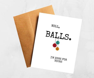 Well, Balls Funny Testicular Cancer Get Well Card Better and Co.