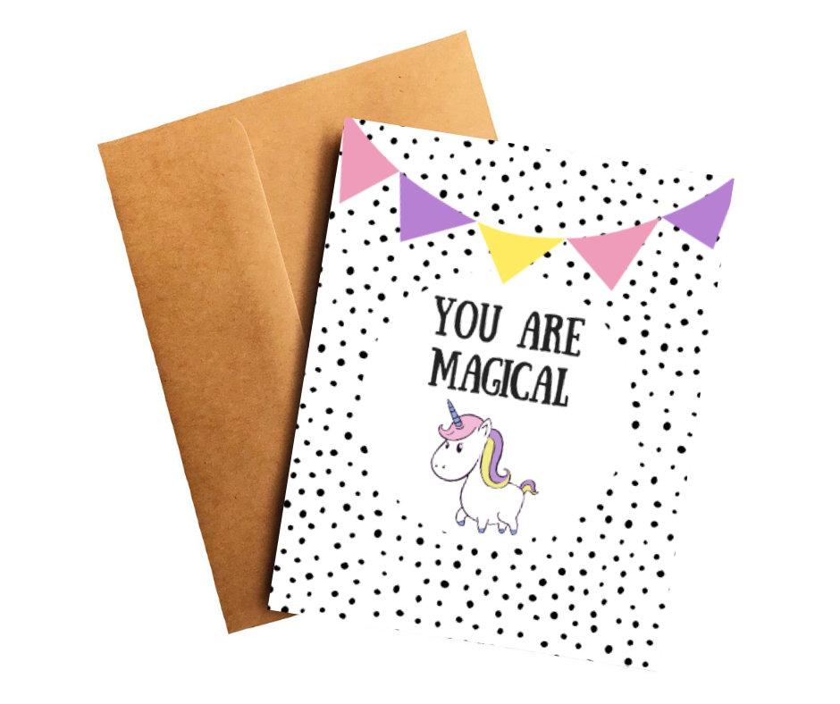You Are Magical Unicorn Encouragement Card Better and Co.