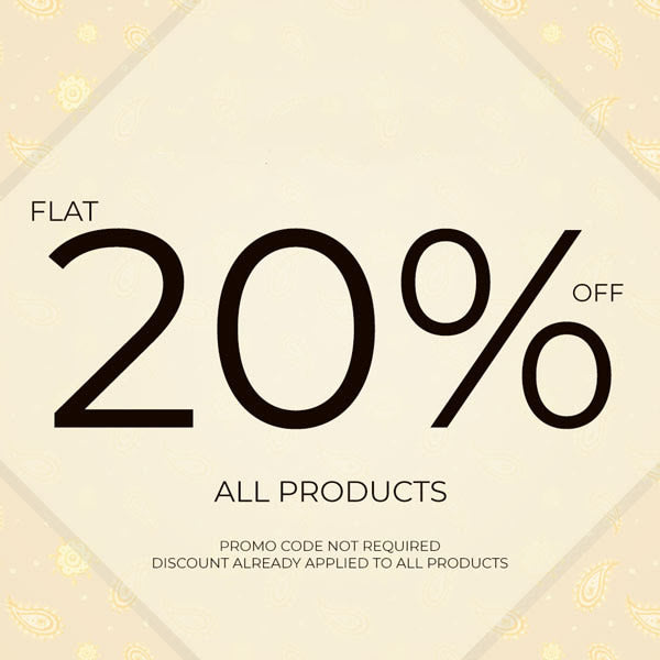 FLAT 20 OFF on All Products