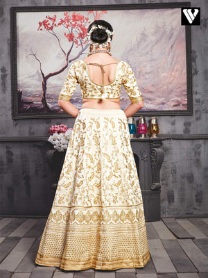 Adorable Phantom Silk Embroidered Wedding Lehenga Choli