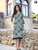 Designer Gray Cotton Readymade Long Kurti