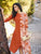Trendy Stylish Orange Cotton Readymade Long Kurti