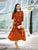 Designer Party Wear Orange Casual Long Kurtis