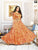 Designer Aari Work Orange Party Wear Long Kurtis