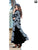 Black and Grey Digital Printed Long Kurtis