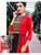 Stylish Embroidered Red and Black Color Pattern Long Kurtis
