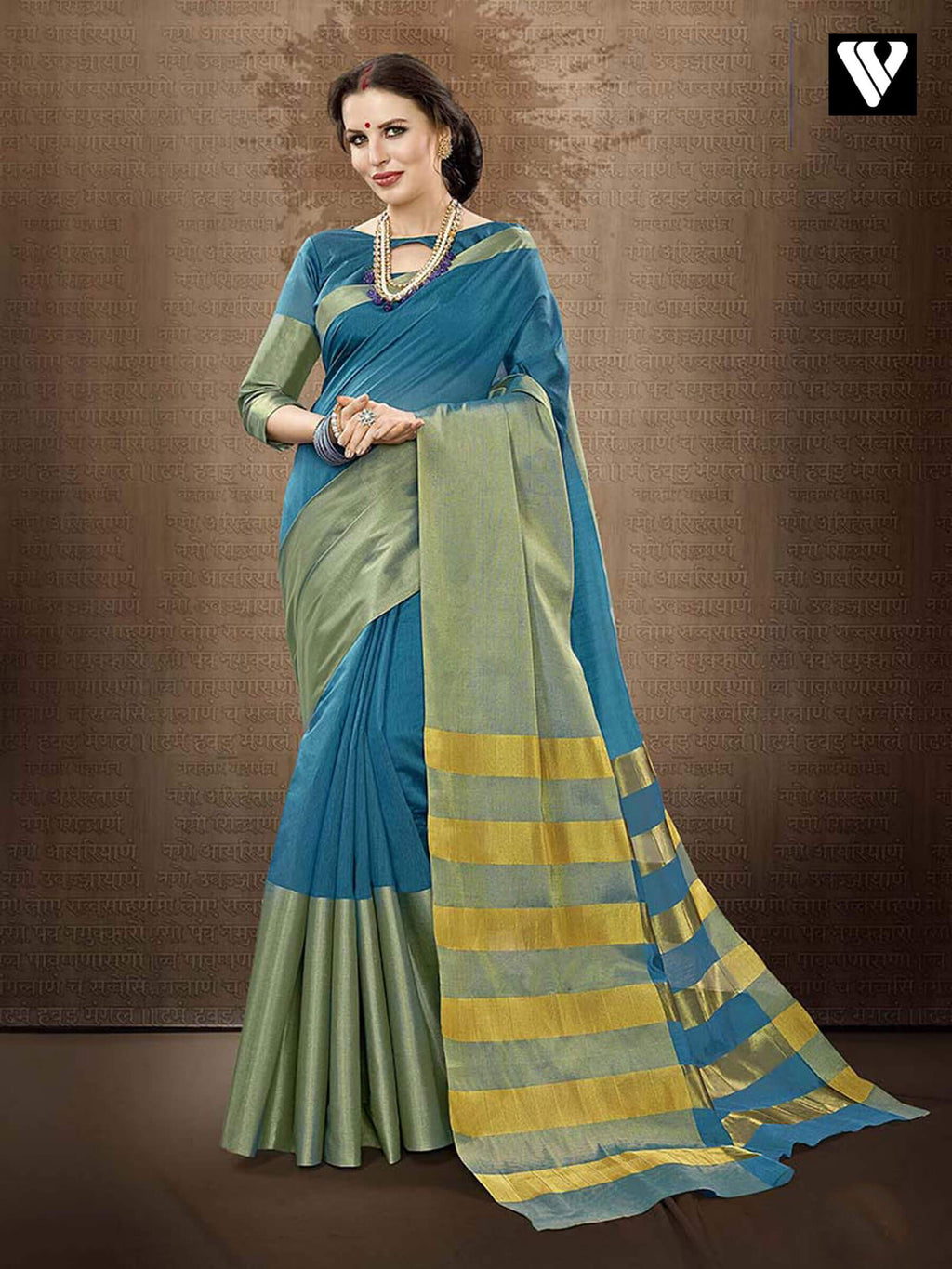 Regular Casual Wear Designer Cotton Handloom Silk Saree in Sky Blue