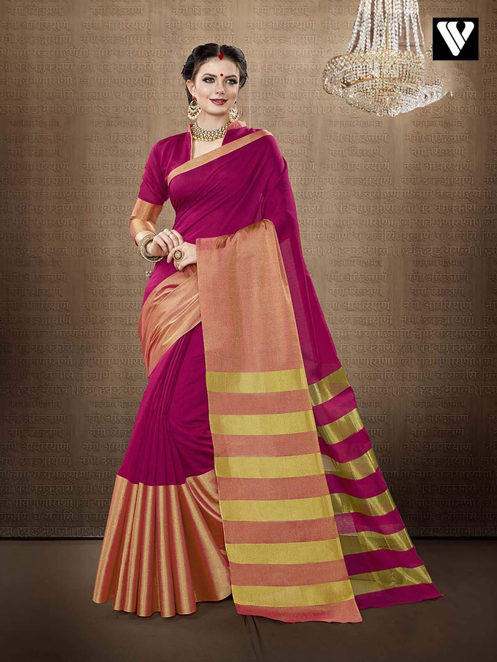 Casual Wear Designer Cotton Handloom Silk Saree in Pink