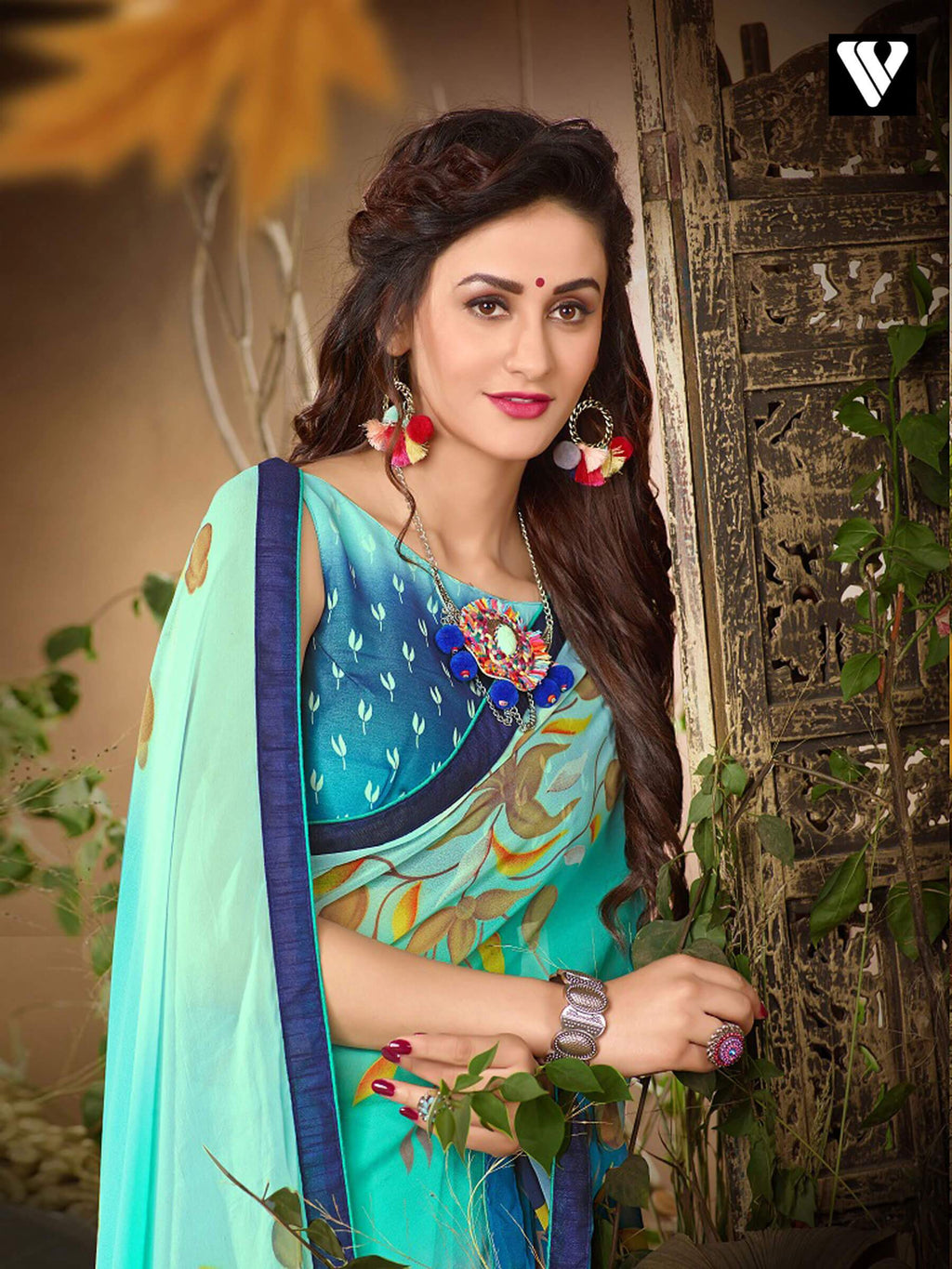 Latest Casual Wear Multi Color Georgette Saree