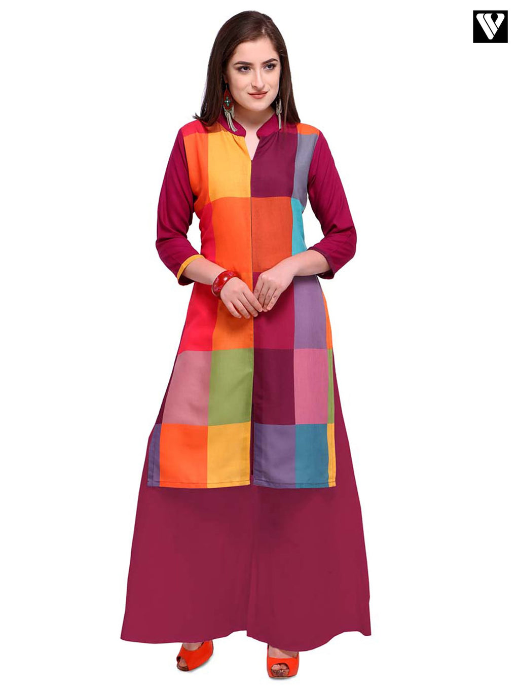 Latest Design Digital Print Multi Color Long Kurtis