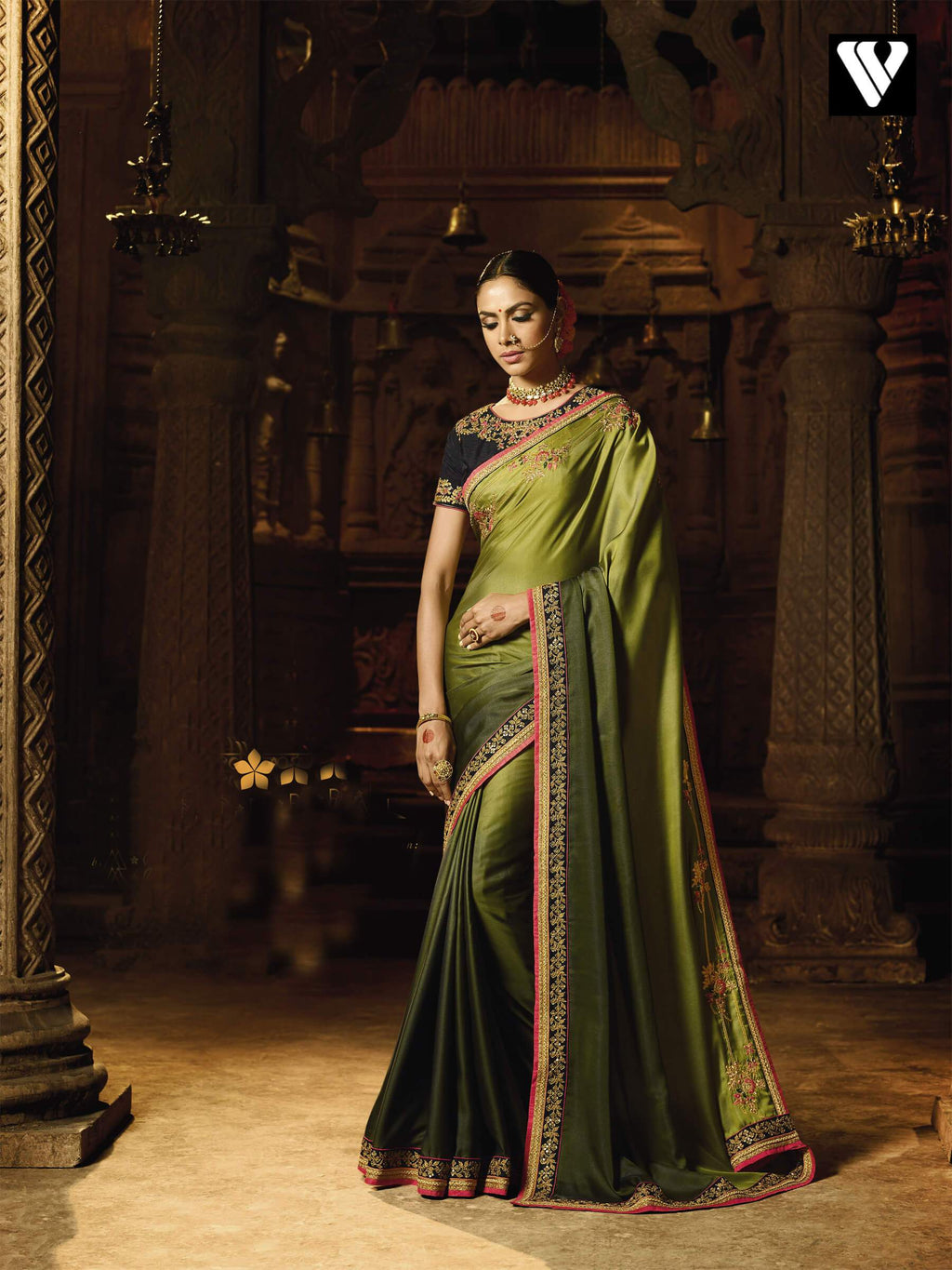 Nice Fancy Design Barfi Silk Zari Work Saree
