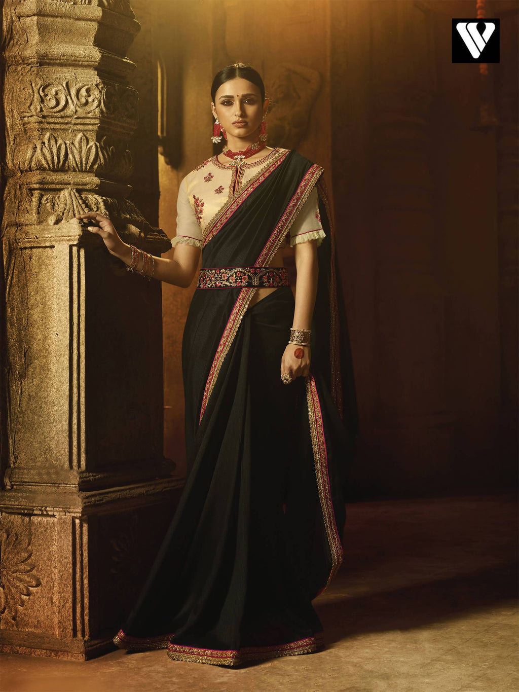Festival Wear Devesena Silk With Zari Work Saree In Chiku