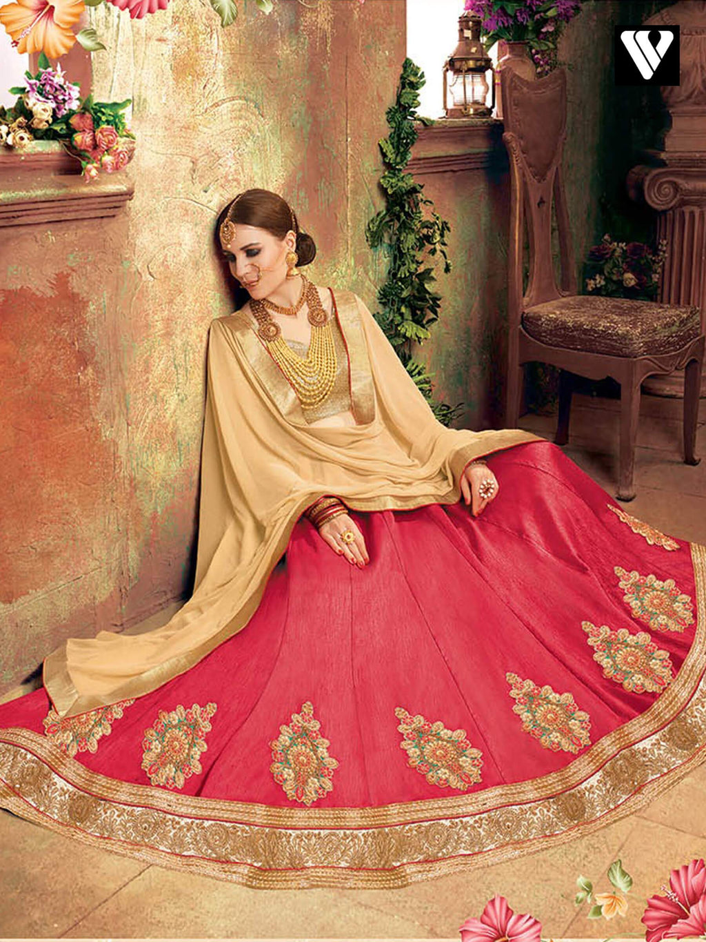Fashionable Pink Soft Silk Lehenga Saree Collection