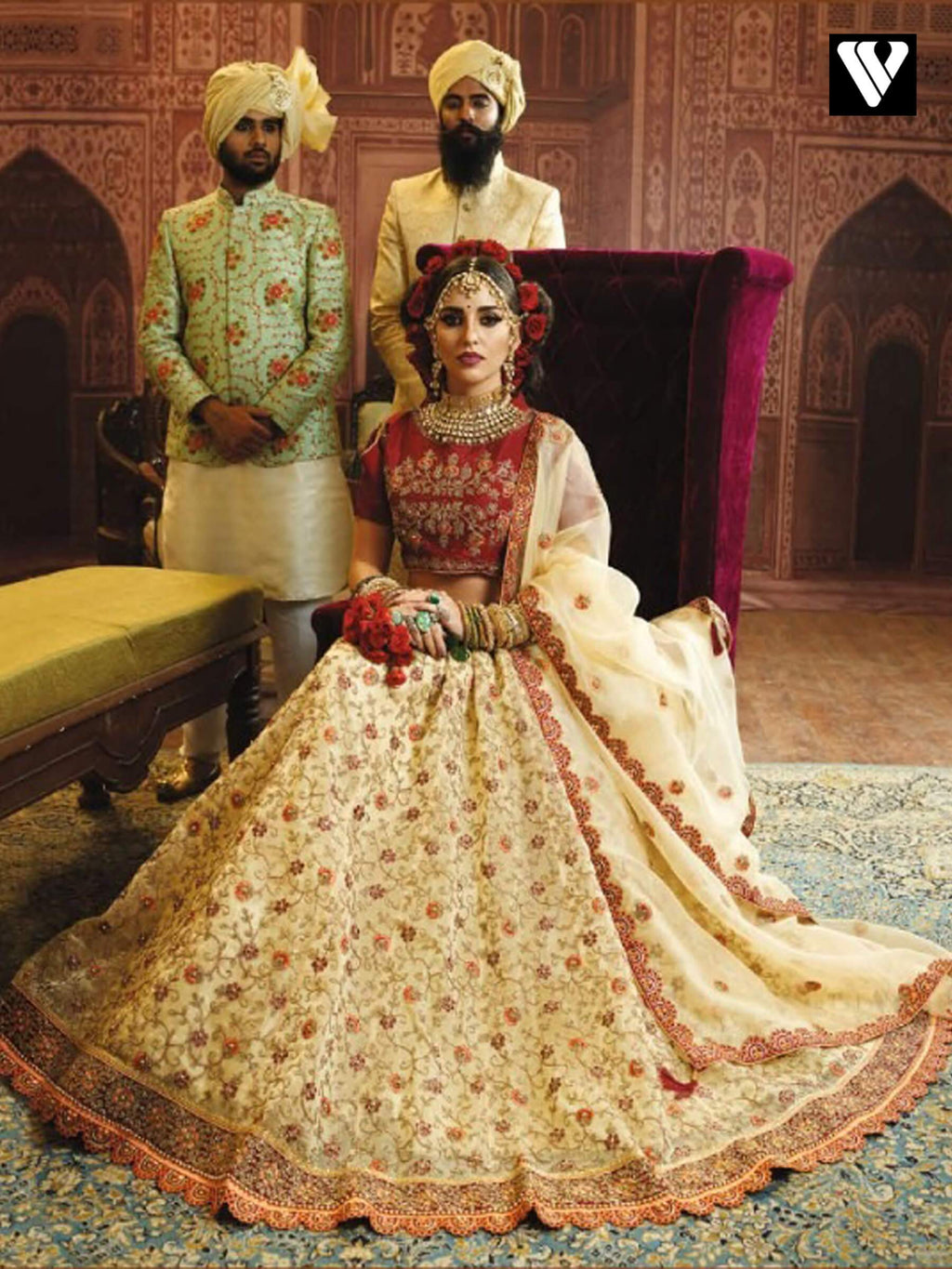 Lemon Chiffon Organza Wedding Wear Heavy Embroidery Work Lehenga Choli