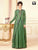 Stylish Green Color Embroidery Work Readymade Gown