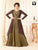 Designer Olive Green Colored Readymade Gown With Multi Colored Jacket