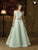 Pastel Bue Color Art Silk Designer Readymade Gown