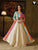 Cream Color Patterned Floor Length Readymade Gown