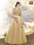 Elegant Cream Color Art Silk Gown With Embroidery Work