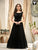 Designer Black Fancy Tikli Work Readymade Party Gown