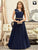 Designer Blue Fancy Lace and Moti Work Readymade Party Gown