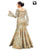 Beige Fancy with Thread Embroidery Work Readymade Gown