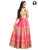 Attractive Pink and Beige Thread Embroidery Readymade Gown
