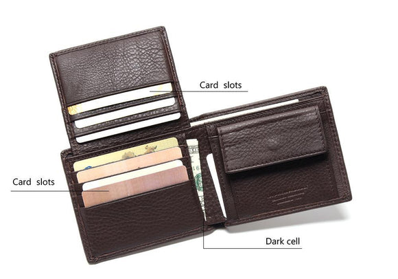 Excellent Genuine Leather Coffee Wallet - Marvelous Emporium