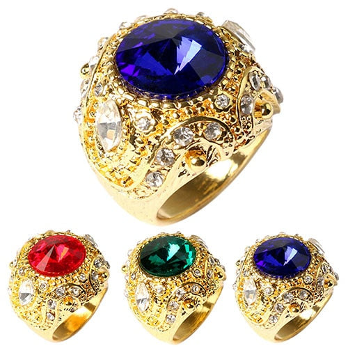 Luxury Big Resin Crown Ring - Marvelous Emporium