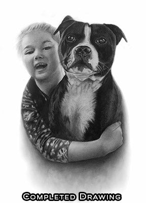Dog Portrait Drawing - Pencil portrait drawing
