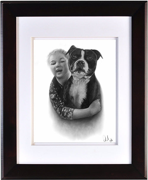 Realistic Dog Portrait Drawing Custom Portrait Drawing Pet Portrait Drawing