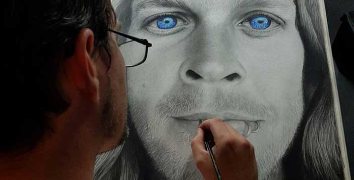 Australian Portrait Artist - Daniel Parkyns doing custom portraits