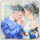 Custom sketch & watercolour portrait of wedding artist