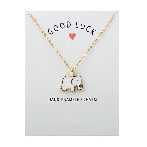 Image of Good Luck Elephant Pendant Necklace