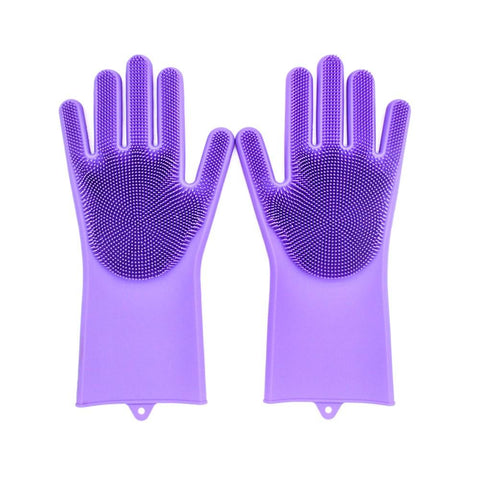 Silicone Scrubber Cleaning Gloves