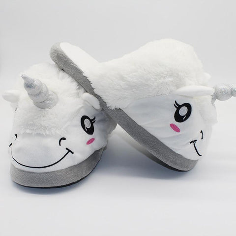 Image of Unicorn Plush Slippers
